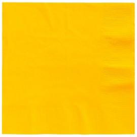 Beverage Napkins Yellow Sunshine 2 Ply