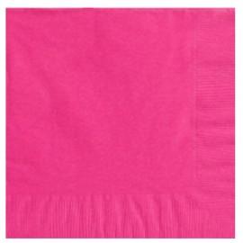 Beverage Napkins Bright Pink 2 Ply