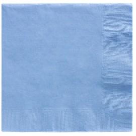 Beverage Napkins Pastel Blue 2 Ply