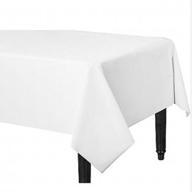 Tablecover Rectangle Frosty White Plastic