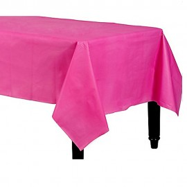 Tablecover Rectangle Bright Pink Plastic