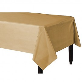 Tablecover Rectangle Gold Plastic