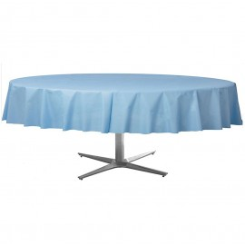 Tablecover Round Pastel Blue Plastic
