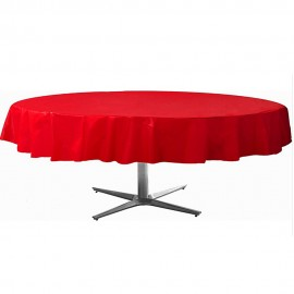 Tablecover Round Apple Red Plastic
