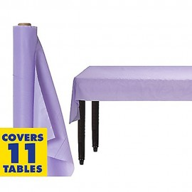 Tablecover Roll Lavender Lilac Plastic