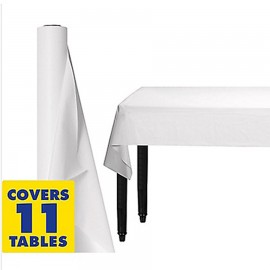 Tablecover Roll White Plastic