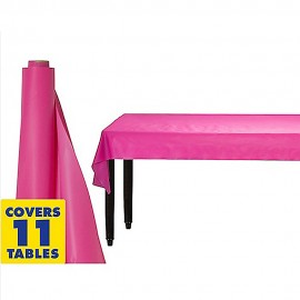 Tablecover Roll Bright Pink Plastic