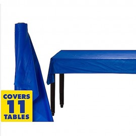 Tablecover Roll Bright Royal Blue Plastic