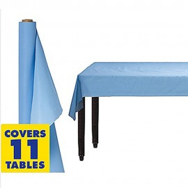 Tablecover Roll Pastel Blue Plastic