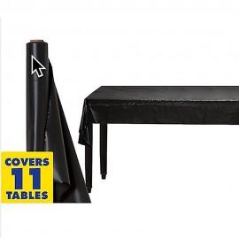 Tablecover Roll Jet Black Plastic