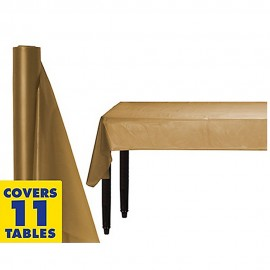 Tablecover Roll Gold Plastic