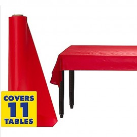Tablecover Roll Apple Red Plastic