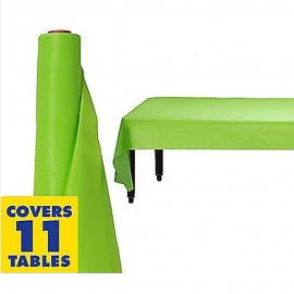 Tablecover Roll Kiwi Lime Green Plastic