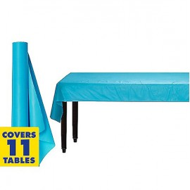 Tablecover Roll Caribbean Blue Plastic