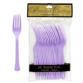 Forks Lavender Lilac Heavy Duty Plastic