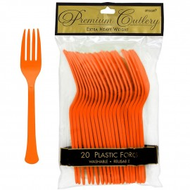 Forks Orange Peel Heavy Duty Plastic