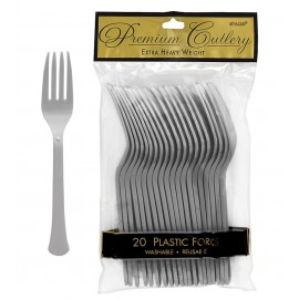 Forks Silver Heavy Duty Plastic