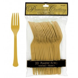 Forks Gold Heavy Duty Plastic