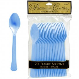 Spoons Pastel Blue Heavy Duty Plastic