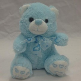 Soft Toy 15cm Ivy Teddy Bear Blue,