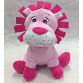 Soft Toy Lion 24cm 'Colour Rich' Pink,
