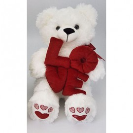 Soft Toy 25cm White Bear & L.O.V.E Letters