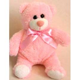 Soft Toy 15cm Pink Teddy Bear & Bow