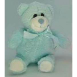 Soft Toy 15cm Blue Teddy Bear & Bow