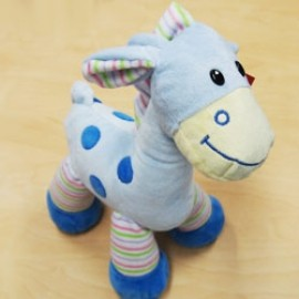 Soft Toy 31cm  Baby Giraffe Blue