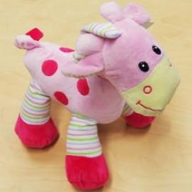 Soft Toy 31cm Baby Giraffe Pink