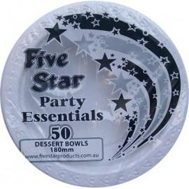 Bowls Dessert Economy White Plastic