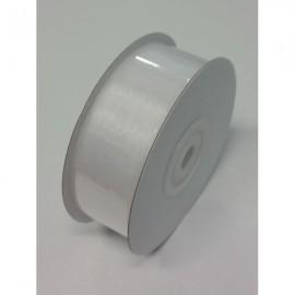 Ribbon Sheer Organza White Cut Edge 25mm x 50m