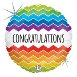 22cm Congratulations Chevron (Flat)