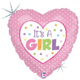 10cm It's A Girl Baby Dots (Flat)