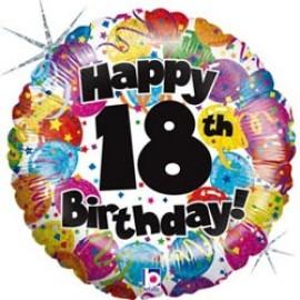 45cm 18th Birthday Round