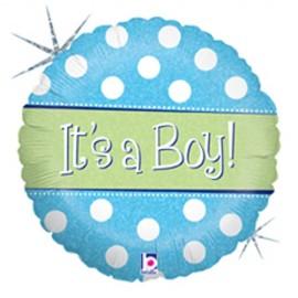 45cm It's A Boy Polka Dot