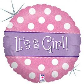 45cm It's A Girl Polka Dot