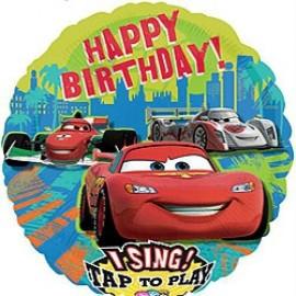 70cm Sing-A-Tune Happy Birthday Cars