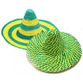 Hat Mexican Sombrero Green & Gold