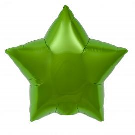 22cm Star Lime Green Self Sealing (Flat)
