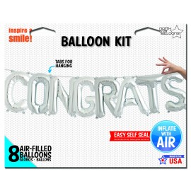 Congrats Silver Hanging Kit Air Fill Only
