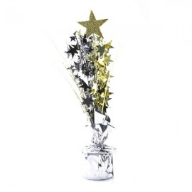 Centrepiece Gold Star with Silver, Gold & Black