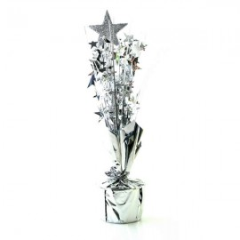 Centrepiece Silver Star & Silver Stars