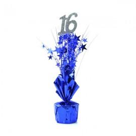 Centrepiece 16 Silver & Blue Stars