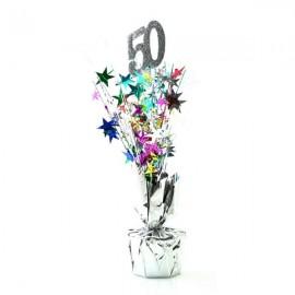 Centrepiece 50 Silver & Multi Coloured Stars