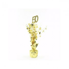 Centrepiece 50 Gold & Gold Stars