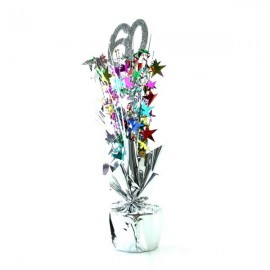 Centrepiece 60 Silver & Multi Coloured Stars