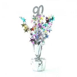 Centrepiece 90 Silver & Multi Coloured Stars