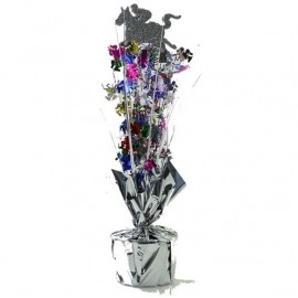 Centrepiece Horse Silver with Multi Coloured