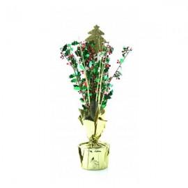 Centrepiece Christmas Tree Gold & Holly Sprays